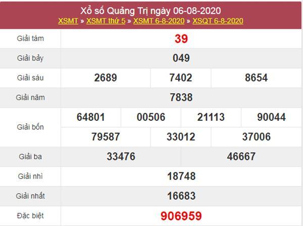 Dự đoán XSQT 13/8/2020 chốt KQXS Quảng Trị thứ 5